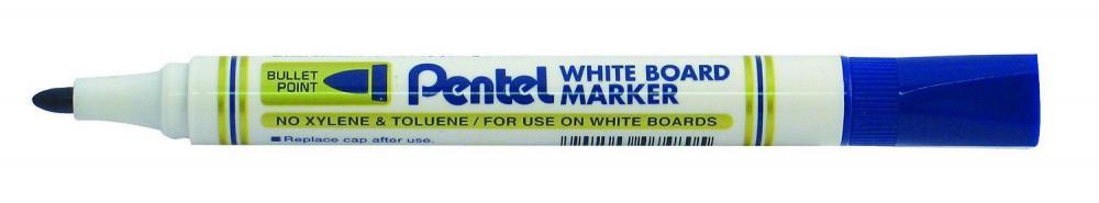 Marker pt tabla Pentel, vf rotund 4.2 mm, albastru