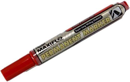 Marker permanent Pentel Maxiflo, varf rotund, 4.5mm, rosu