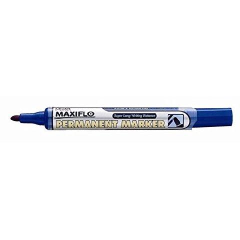 Marker permanent Pentel Maxiflo, varf rotund, 4.5mm, albastru
