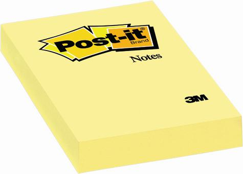 Post-it (R), galben 51x76mm, 100 file