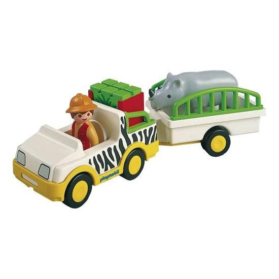 1.2.3 Camion de safari cu rinocer
