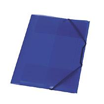 Mapa palstic cu elatic,15mm,albastru tr.