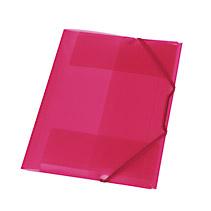 Mapa palstic cu elatic,15mm,roz transp.
