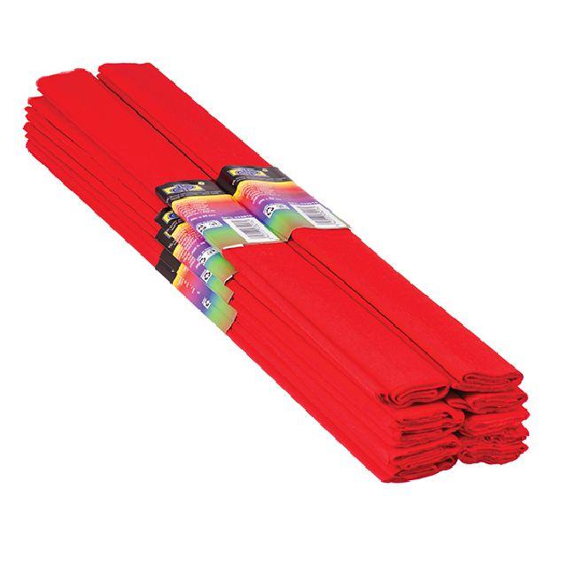 Hartie creponata,50x200cm,rosu,DP