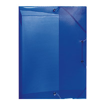 Mapa palstic cu elatic,40mm,albastru reg
