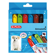 Creioane colorate,6b/set,ColorGel,Herlitz