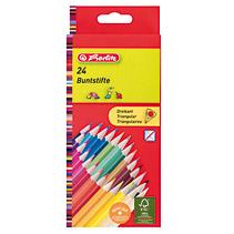 Creioane colorate,24b/set,triung,Herlitz