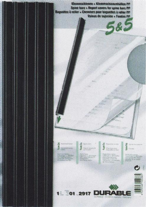 Set sine+plicuri sine prindere, 5&5, negru