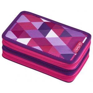 Penar triplu echipat 31pcsPink Cubes
