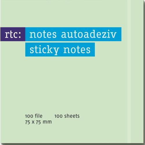 Notes autoadeziv 76x75mm,verde pastel