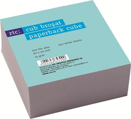 Paper cube 9x9,70g alb 500 coli