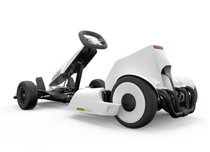 Vehicul electric Ninebot Gokart alb viteza maxima 24km/h autonomie maxima 15km