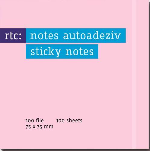 Notes autoadeziv 76x75mm roz...