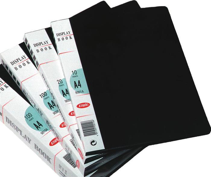 Display book A4 negru 10 file plastic transp.