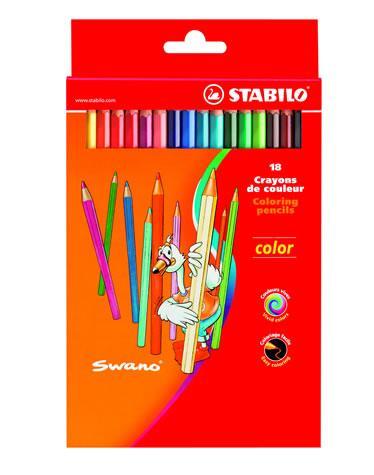 Creioane colorate,18b/set,StabiloColor
