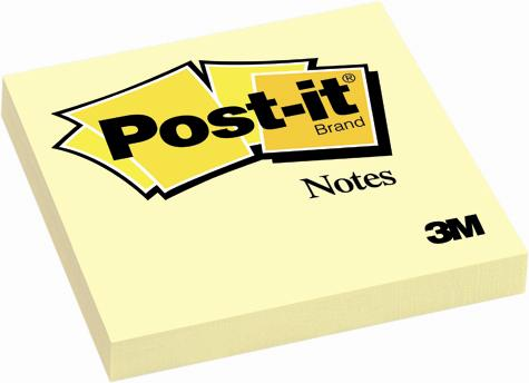 Post-it (R), galben 76x76 mm , 100 file