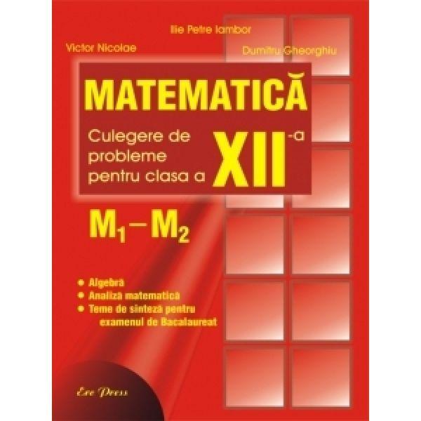 Matematica M2 -manual pentru clasa a XII-a - Iambor Ilie Petre