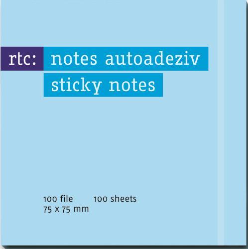 Notes autoadeziv 76x75mm albastru pastel
