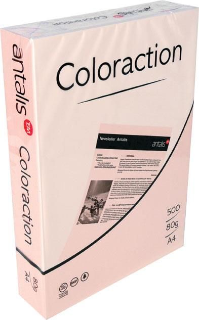 H.color A4 Rainbow,160g 250 coli roz-Pink