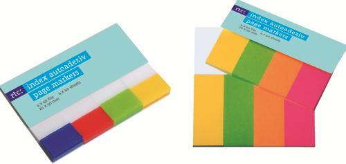 Index autoadeziv transparent 4 culori/se