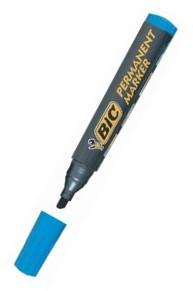 Marker permanent Bic vf.rotund, 2.5mm,albast