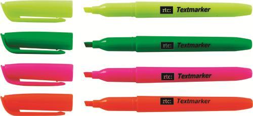 Textmarker stick verde