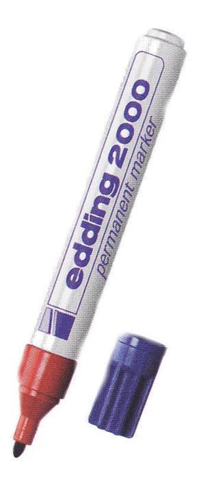 Permanent marker Edding negru/1,5-3mm/reincarca