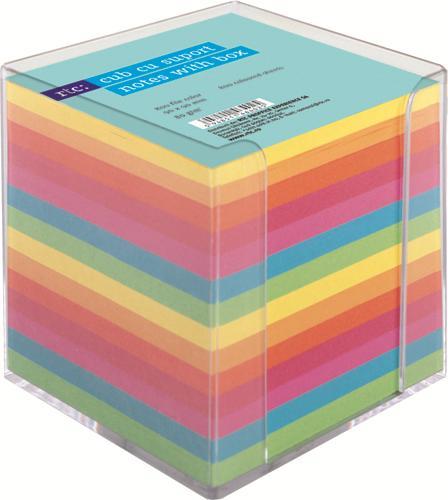 Cub de hartie color sup.din plastic;fumuriu