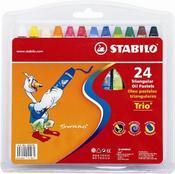 Creioane cerate,24b/set,Stabilo YippyWax