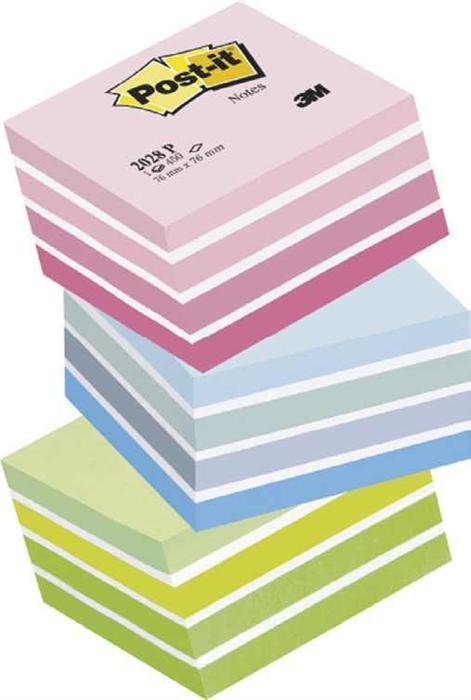 Cub notite adezive Post pastel albastru 76*76mm