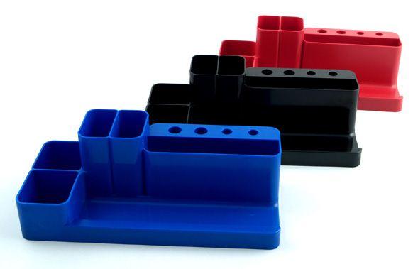 Suport articole birou albastru,5compartimente