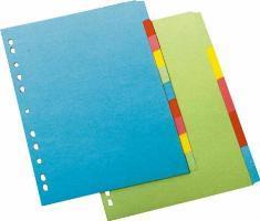 Set separatoare carto n A4 6file, index color