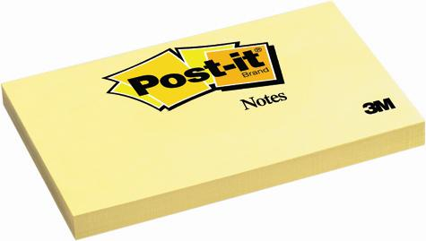 Post-it (R), galben 127x76 mm, 100 file