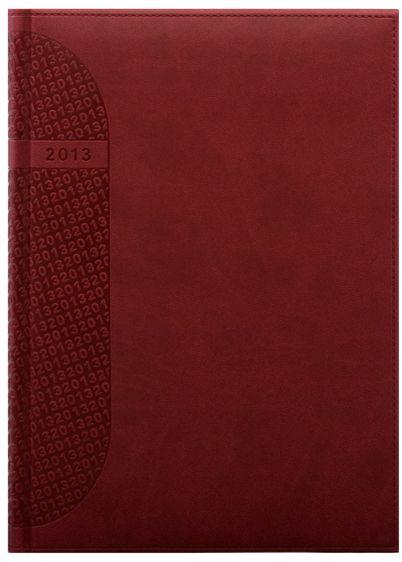 zzAgenda datata A4,Kent,saptamanala,128p,ivoire,rosu cardinal