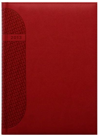 zzAgenda datata A4,Kent,saptamanala,128p,ivoire,rosu coral