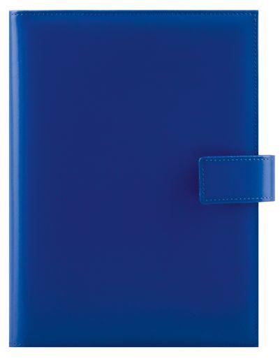 Agenda datata A5,Cielo,din piele,zilnica,320p,ivoire,cu pix,albastru