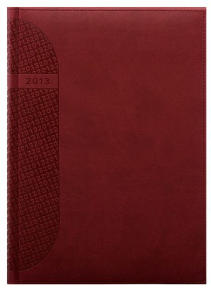 zzAgenda datata A5,Kent,zilnica,320p,rosu cardinal