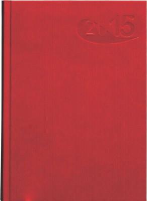 Agenda A5,datata,Papier,zilnica,320pagini,h.ivory,rosu