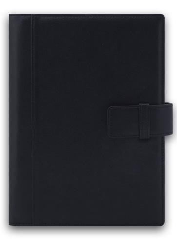 Agenda A5,Suave,din piele,zilnica,negru