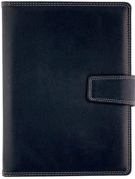 Agenda datata 17x24cm,Basic,zilnica,352p,ivoire,cu pix,albastru