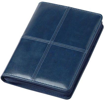 zzAgenda datata A5,Bluette,zilnica,320p, ivoire,cu pix,albastru