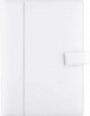 Agenda datata 17x24cm,Bianca,din piele,zilnica,352p,h.ivory,alb