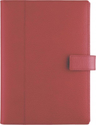 Agenda datata 17x24cm,Monza,din piele,zilnica,352p,h.ivory,rosu englezesc