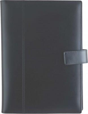 Agenda datata 17x24cm,Perugia,din piele,zilnica,352p,h.ivory,negru
