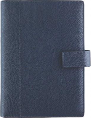 Agenda datata A5,Monza,din piele,zilnica,320pagini,h.ivory,albastru