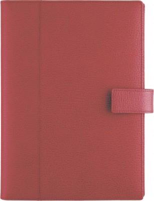 Agenda datata A5,Monza,din piele,zilnica,320pagini,h.ivory,rosu