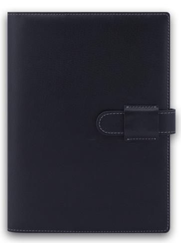 Agenda datata A5,Soft,din piele,zilnica,320pagini,h.ivory,negru