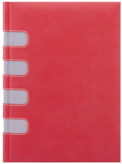 zzAgenda datata 17x24cm,E-book,zilnica,352p,ivoire,rosu/argintiu