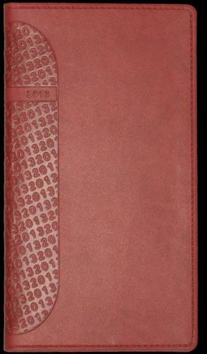 zzAgenda datata 8x15cm,Kent,saptamanala,128p,rosu cardinal