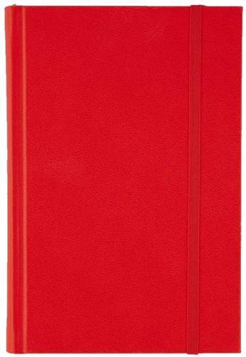 Agenda 11x16.5cm,nedatata,Time,320p,ivoire,velin,rosu